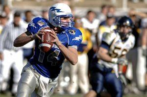 American Football Quarterback Steve Smith during play against Arizona Cardinals
