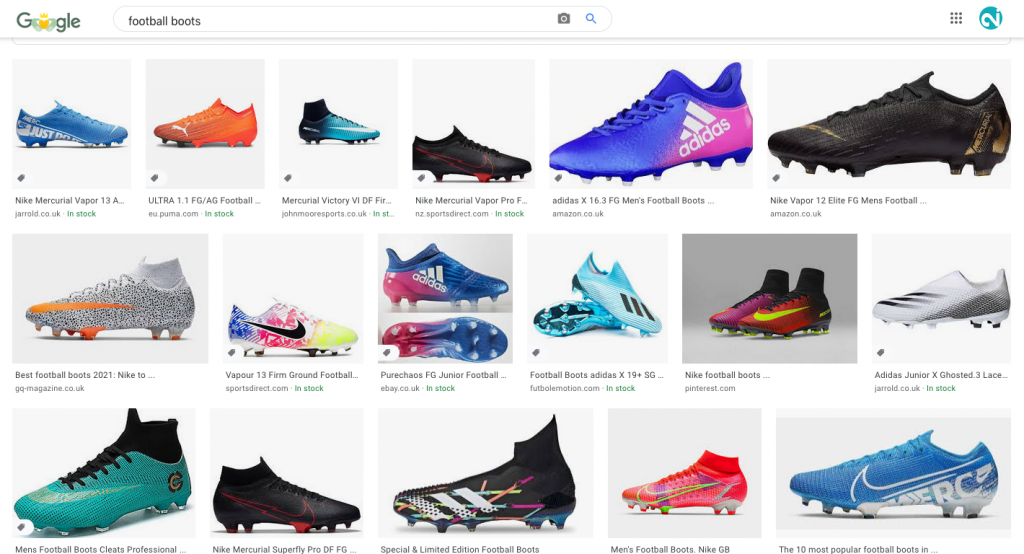 """A selection of Football Boots returned by Google Images for the search term """"Football Boots"""""""