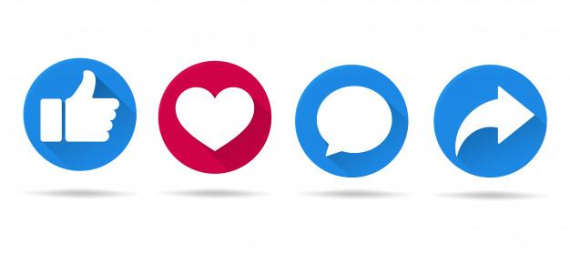Social Media Engagement Icons
